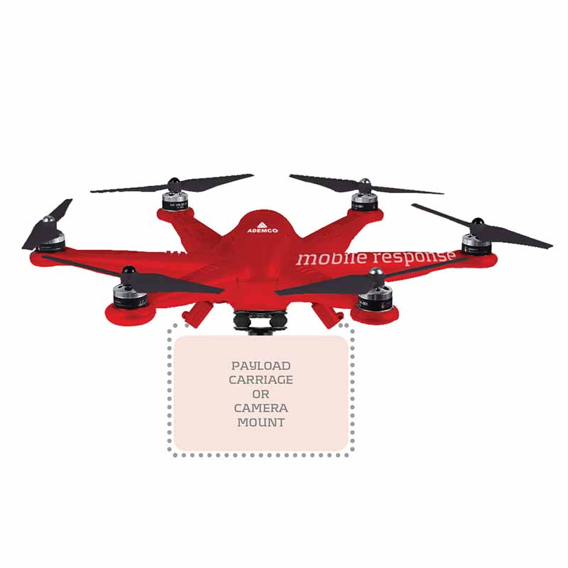 Branding for quadcopter, part of branding and marketing for Ademco completed by Spinnaker360.